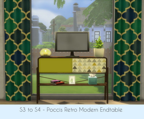 Sims 4 S3 to S4 Poccis Retro Modern Endtable at ChiLLis Sims