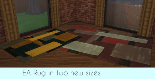 Sims 4 EA Rug Out of the box in two new sizes at ChiLLis Sims