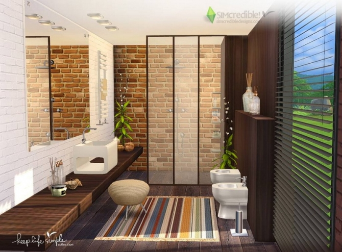 Keep life simple bathroom at simcredible designs 4 sims for Bathroom ideas sims 3