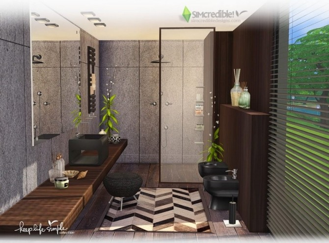 Keep Life Simple bathroom at SIMcredible! Designs 4 image 2386 670x494 Sims 4 Updates
