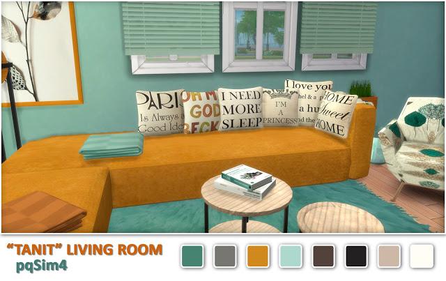 Sims 4 Tanit livingroom by Mary Jiménez at pqSims4