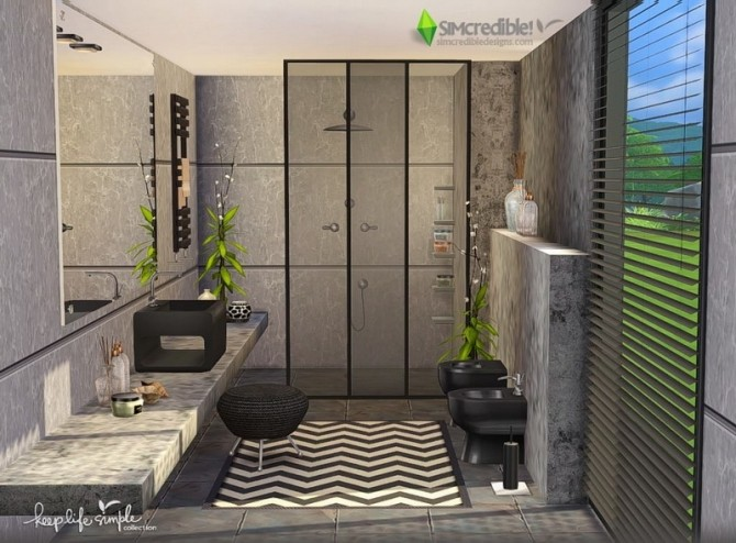 Keep Life Simple Bathroom At Simcredible Designs 4 187 Sims