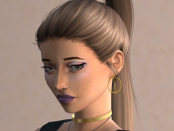Crisscross Earrings by Christopher067 at TSR image 2412 Sims 4 Updates