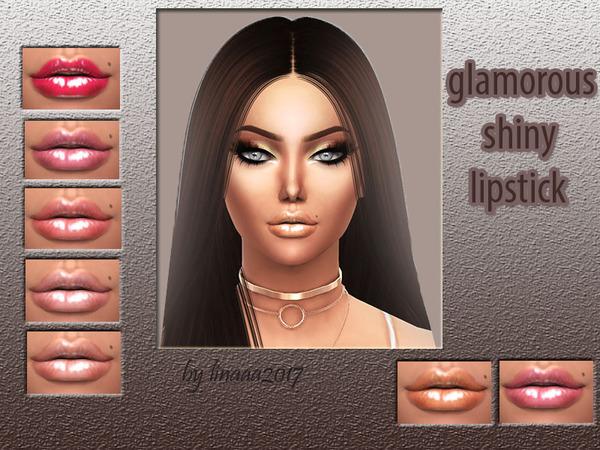 Glamorous shiny lipstick by linaaa2017 at TSR image 2426 Sims 4 Updates