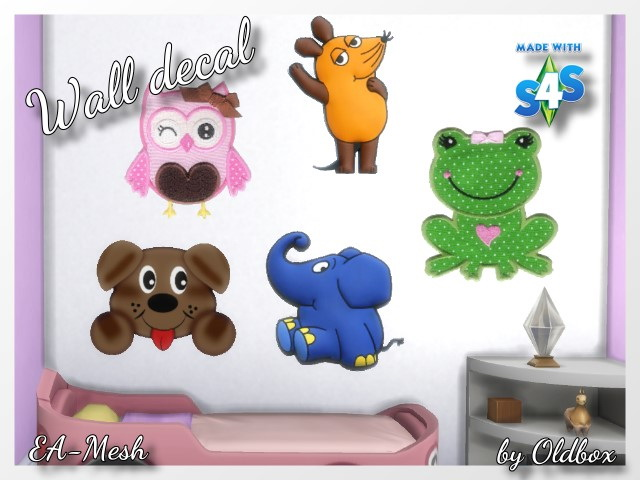 Sims 4 Wall decal by Oldbox at All 4 Sims