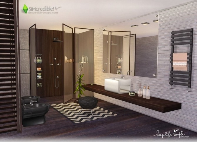 Keep Life Simple bathroom at SIMcredible! Designs 4 image 2434 670x485 Sims 4 Updates