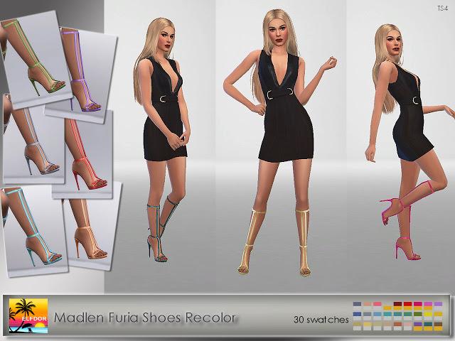 Sims 4 Madlen Furia Shoes Long Recolor at Elfdor Sims