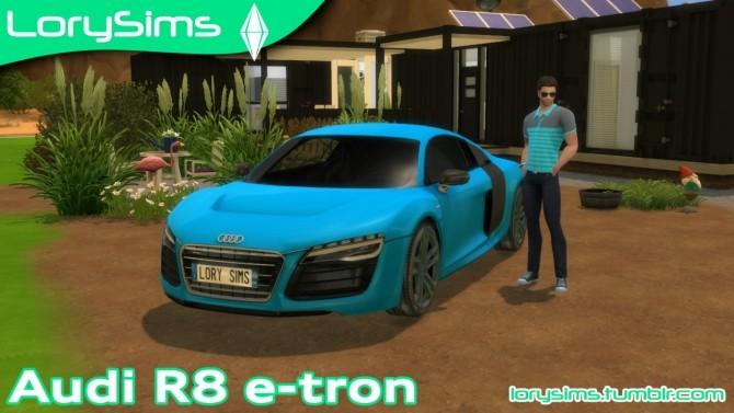 Audi R8 e tron at LorySims image 2492 670x377 Sims 4 Updates