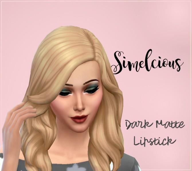 Sims 4 Dark Matte Lipstick at Simelicious