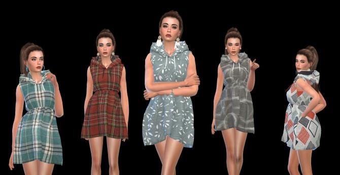 Sims 4 Sleeveless Dress at Leo Sims