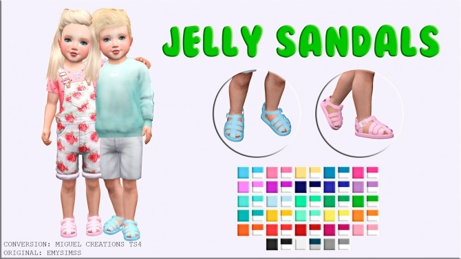 Sims 4 Jelly Sandals at Victor Miguel