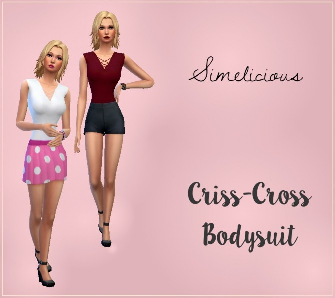 Criss Cross Bodysuit at Simelicious image 2546 670x596 Sims 4 Updates