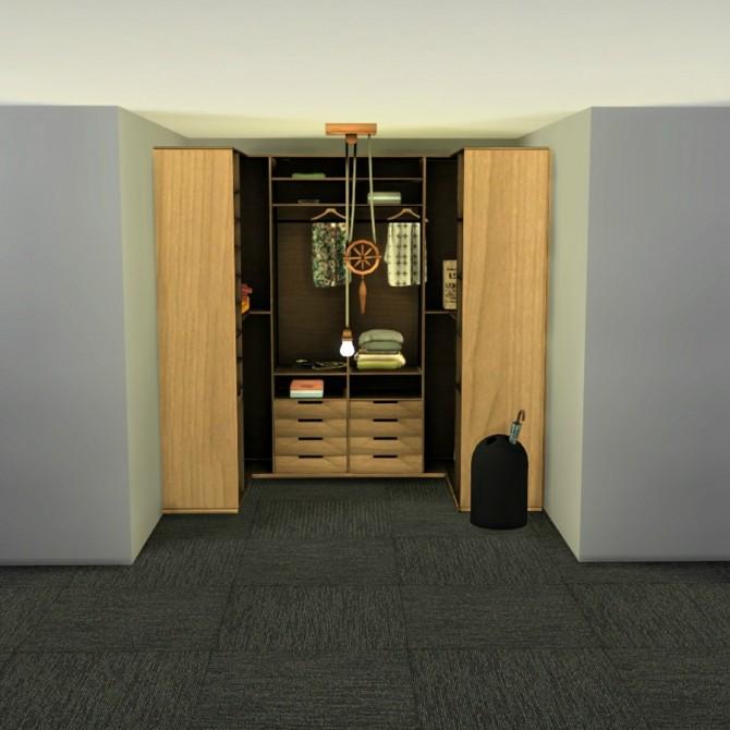 Sims 4 Wardrobe Cabinet at Leo Sims
