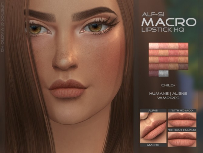 Lipstick 01 Macro Hq At Alf Si 187 Sims 4 Updates