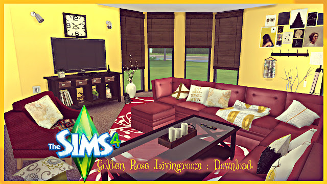 Golden Rose Livingroom at Pandasht Productions image 2655 Sims 4 Updates