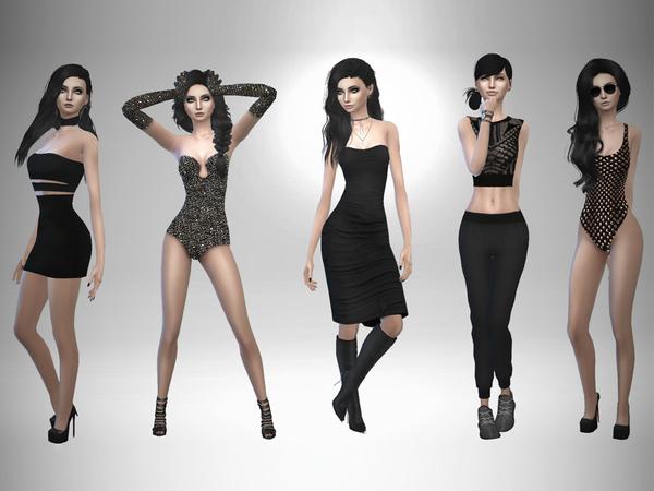 Sims 4 Ashley Black by sand y at TSR