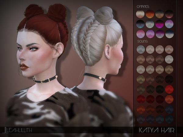 Sims 4 Katya Hair by LeahLillith at TSR
