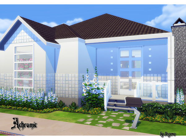 Achromic house by Degera at TSR image 2817 Sims 4 Updates