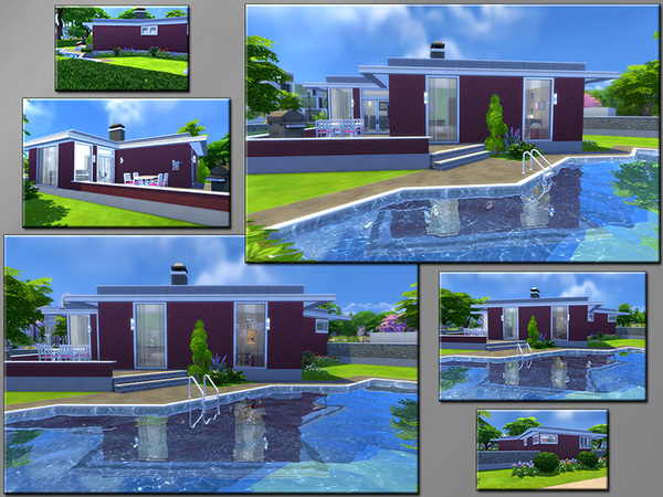 Sims 4 MB Flathead Bungalow by matomibotaki at TSR