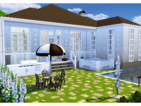 Achromic house by Degera at TSR image 2917 Sims 4 Updates