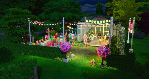 Sims 4 Small romantic lounge at ChiLLis Sims