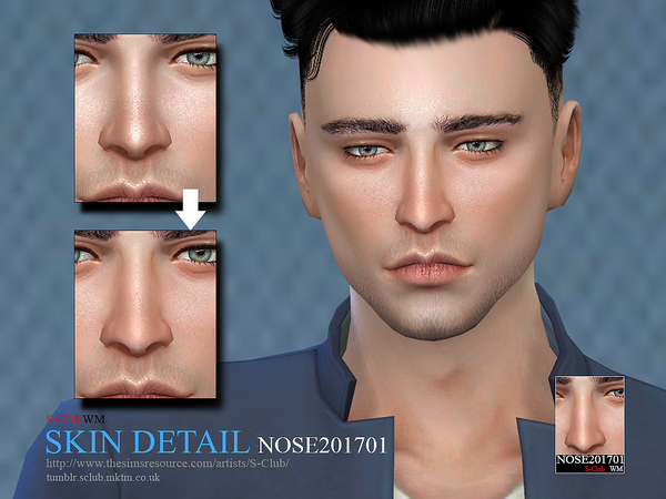 Sims 4 Skin Detail Nose201701 by S Club WM at TSR