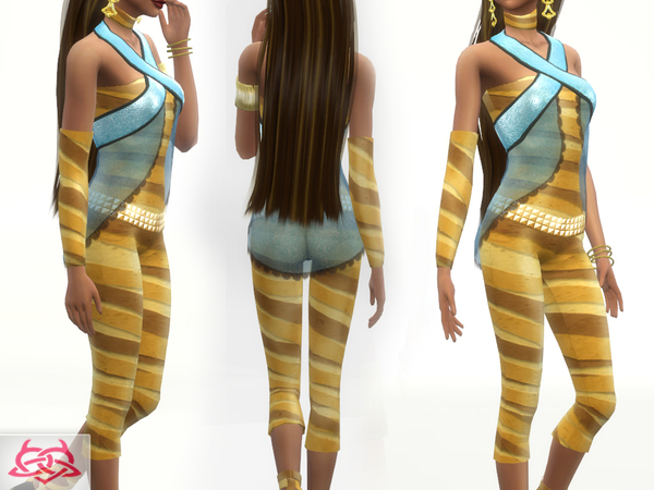 Sims 4 Cleo de Nile Set by Colores Urbanos at TSR
