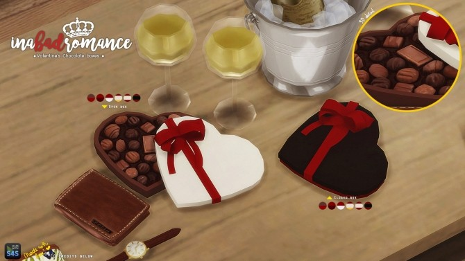 Chocolate gift boxes at In a bad Romance image 3092 670x377 Sims 4 Updates