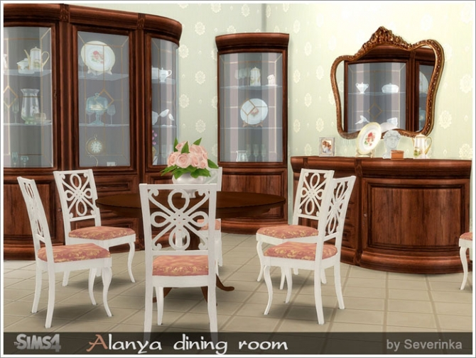 ... Alanya Dining Room At Sims By Severinka Sims 4 Updates For Sims 4  Dining Room Ideas ...