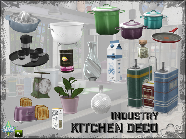 Kitchen Industry Decoration by BuffSumm at TSR image 3124 Sims 4 Updates