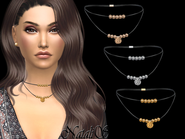Western style short necklace by NataliS at TSR image 317 Sims 4 Updates