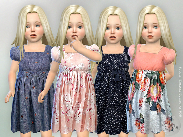 Sims 4 Toddler Dresses Collection P05 by lillka at TSR