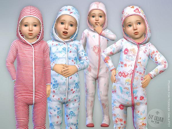 Sims 4 Pyjama for Toddler Girls P01 by lillka at TSR
