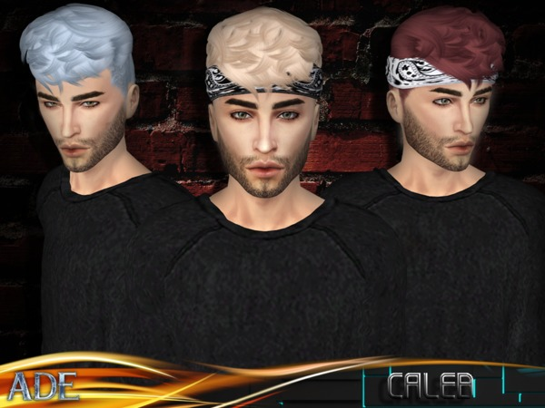 Sims 4 Caleb hair by Ade Darma at TSR