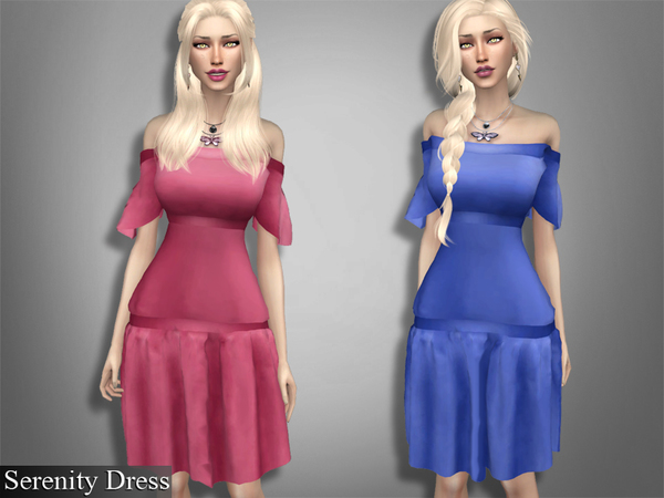 Sims 4 Serenity Dress by Genius666 at TSR