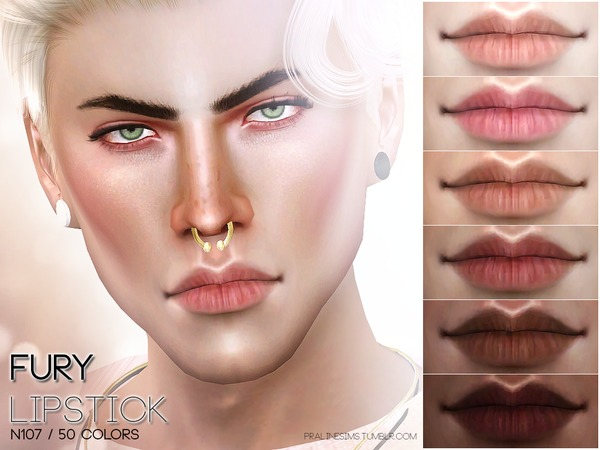 Sims 4 Fury Lips N107 by Pralinesims at TSR