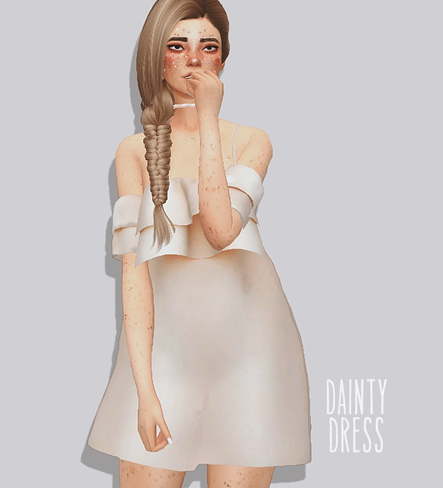 Sims 4 Dainty dress at Puresims