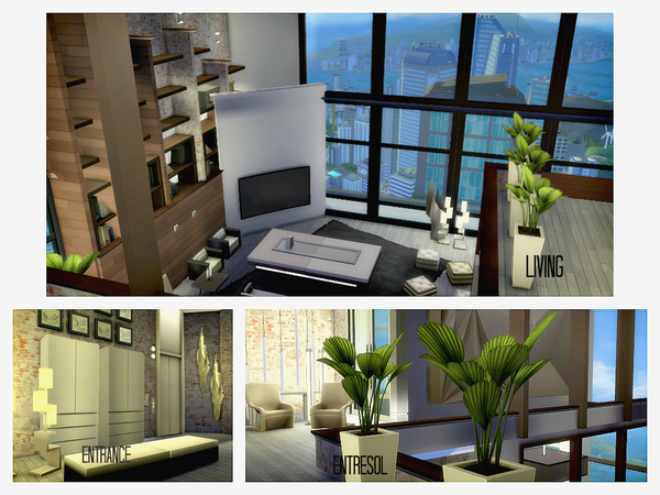 Sims 4 Penthouse No.1 by Hasthepsut at TSR