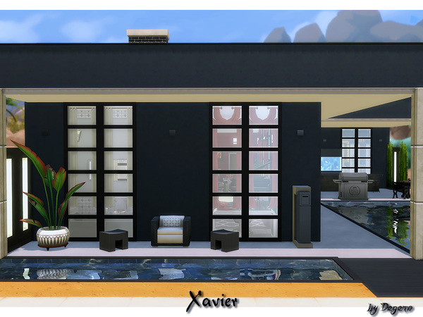 Sims 4 Xavier modern home by Degera at TSR