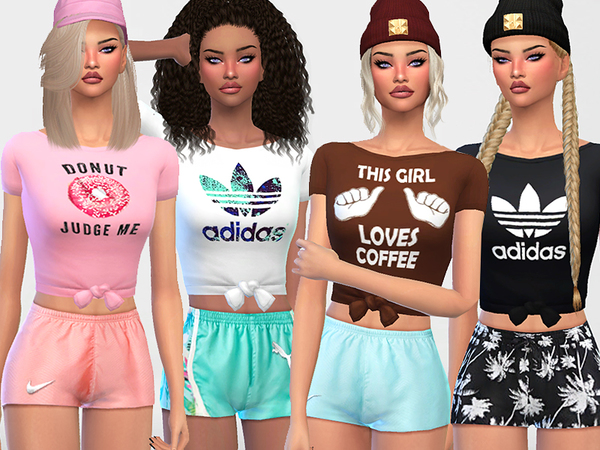 Sims 4 Everyday Cute Tops by Pinkzombiecupcakes at TSR