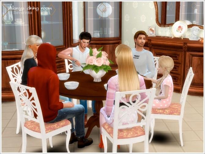 Alanya dining room at Sims by Severinka image 368 670x505 Sims 4 Updates