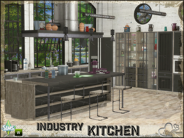 Industry Kitchen by BuffSumm at TSR image 380 Sims 4 Updates
