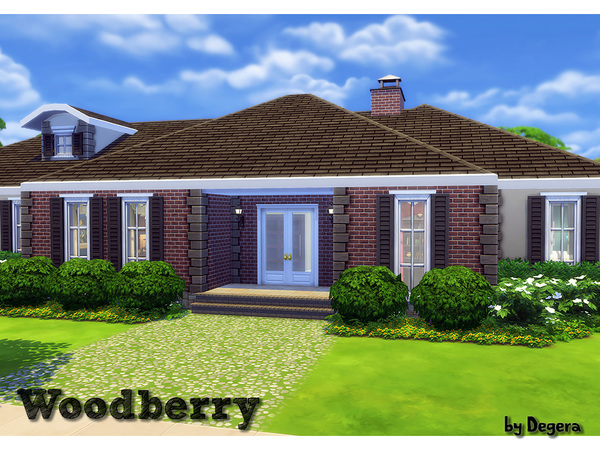 Woodberry house by Degera at TSR image 3913 Sims 4 Updates