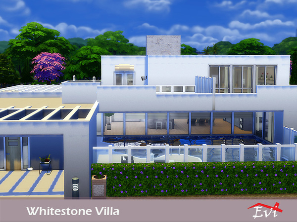 Sims 4 Whitestone Villa by Evi at TSR