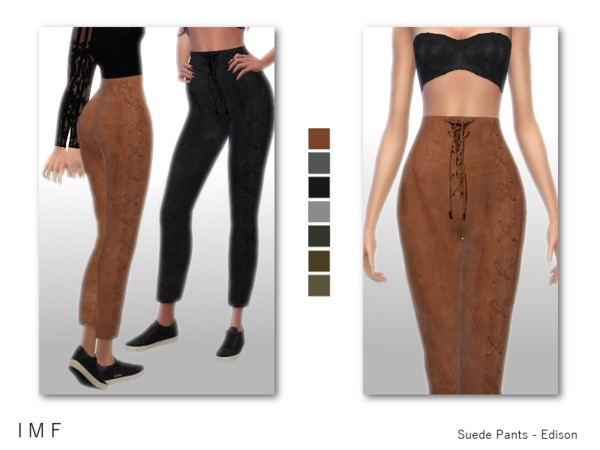 IMF Suede Pants Edison by IzzieMcFire at TSR image 402 Sims 4 Updates
