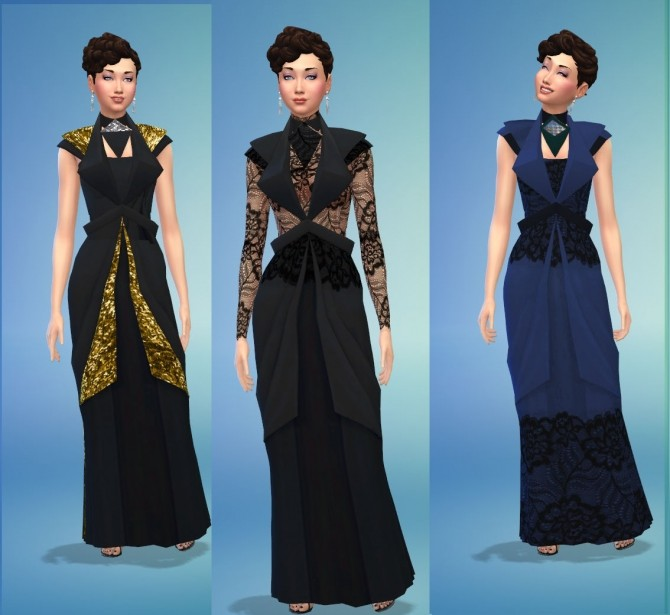 Black Widow Dress Collection by Snowhaze at Mod The Sims