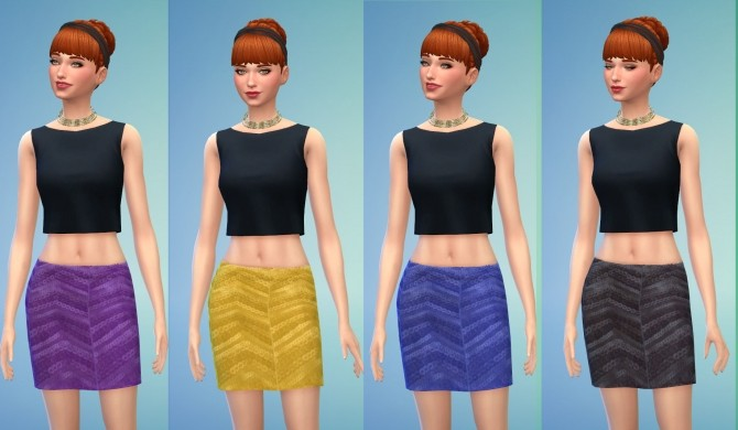Sims 4 Glam Mini Skirts by Snowhaze at Mod The Sims