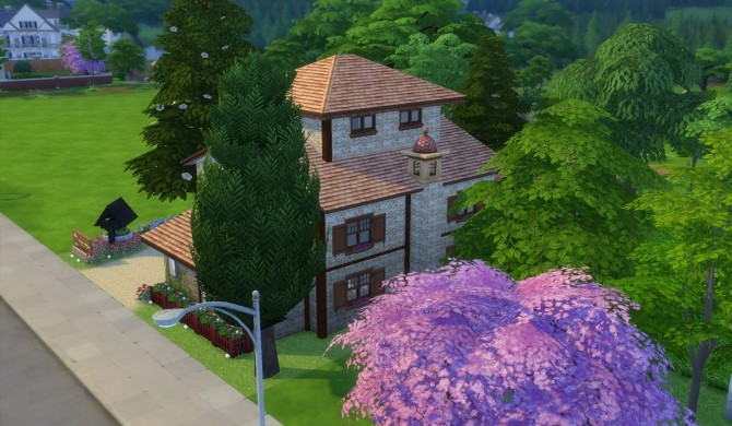 Sims 4 Farmhouse Podere Magnolia by patty3060 at Mod The Sims