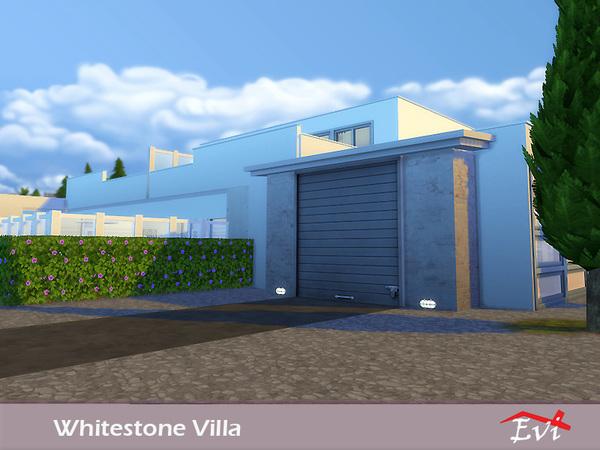 Sims 4 Whitestone Villa by Evi at TSR