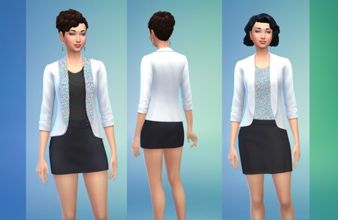 Sims 4 Glam Evening Jackets by Snowhaze at Mod The Sims